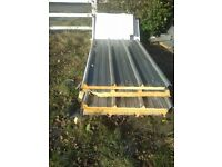 Insulated panels for sheds or similar