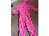 Regatta Girls All in one puddle suit age 5-6