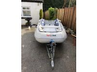 Honwave T35 with HondaBF15 engine, snipe trailer, etc