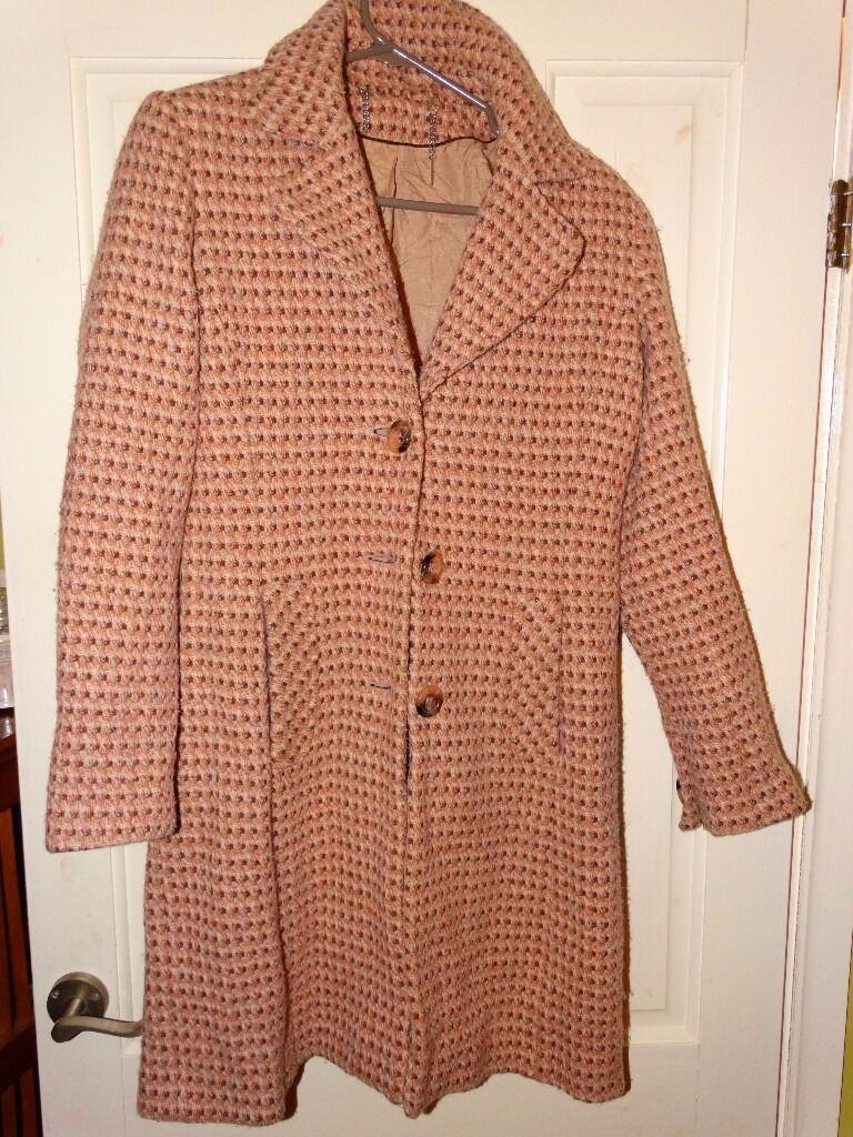 Next 3/4 length ladies' coat - pink check, UK size 8