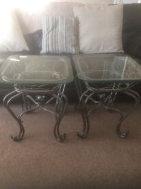 Re advertised Glass side tables