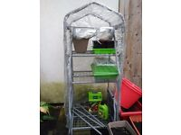 4 tier greenhouse and some complements