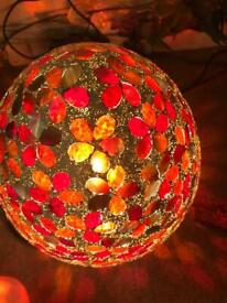 Reduced few weeks old glass egg lamp now 20 no offer