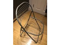Free folding metal chair, for collection only, from E2