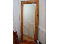 SOLID PINE LONG OBLONG MIRROR SUIT BEDROOM OR HALL