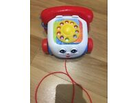 Fisher price pull along telephone perfect for toddler in excellent condition.