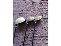 St. Andrews clubs driver plus 3/5 woods r/h regular