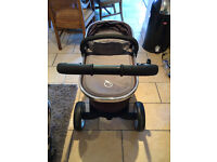 Icandy peach blackjack travel system with footmuff, parasol and waterproof cover