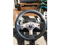 Logitech G25 PC/PS2/PS3 steering wheel, pedals and shifter