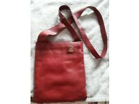Radley cross over handbag in dark red