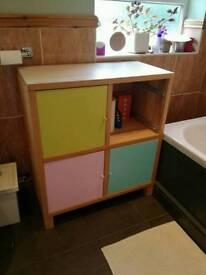 Free Shabby chic upcycled ikea storage unit bathroom/kids bedroom