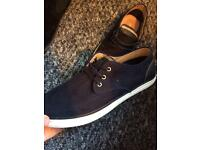 Suede boat style shoe size 9