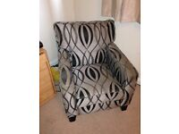 Grey/ silver arm chair