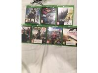 Perfect condition Xbox one games
