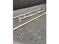 Wooden Curtain poles various lengths and styles – 3ft, 4ft, 5ft and 6ft