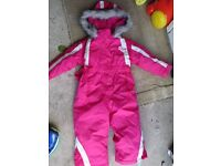 snowsuit pink worn once perfect condition size 12-18 months