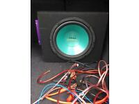 Sub woofer with amp and all wiring £50