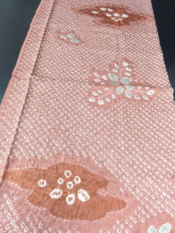 FF#2345Bd70 Vintage Silk Kimono Fabric Shibori 51.2x11.8in(130x30cm)
