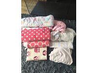 Girls cotbed/blanket bundle