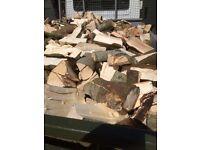 Tipper load hardwood logs