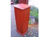 Video, CD, DVD movie shelves, rack, storage tower cabinet, mahogany