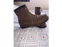 Dr Martens 1460 crazy horse brown boots size UK8