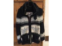 Superdry Chunky Knitted Cardigan Size Medium