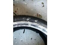 "20"" run flat tyre with full tread"