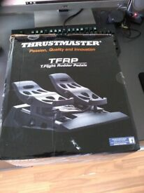 Thrustmaster T flight rudder pedals and TWCS throttle  Very Good