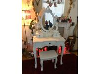 Pretty dressing table with stool