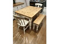 Dining table and chairs/benches