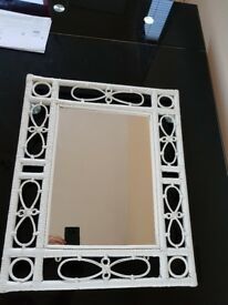White wooden mirror in great condition - can be hanged