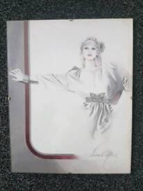 vintage sara moon print