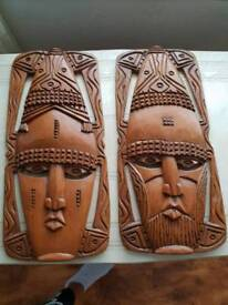 Wooden Mask Carvings.