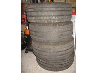 4 x avon zvs 205x55x15 e marked tyres