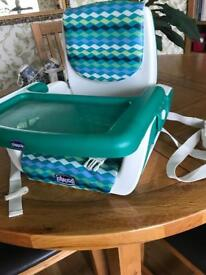 Chicco seat / travel booster chair that straps to the chair