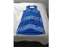 French Connection Blue sequinned dress, size age 12/14, brand new with labels still on.