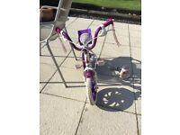 "Raleigh 12"" girls bike with stabilisers"