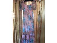 Ladies long summer dress size 14-16