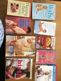 Bundle of 9 pregnancy/baby/toddler books