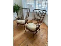 Ercol Vintage Evergreen Armchairs X 2.