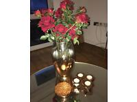 Copper Vase, candle holders x4 and 6x coaster