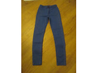 GIRLS HIGH WAISTED SKINNY JEANS - AGE 11 YEARS - GC