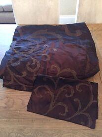 Next Chocolate Super Kingsize Throw & Matching Cushion Covers