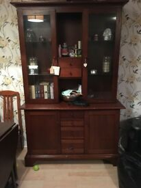 Dark Brown Wooden Cabinet