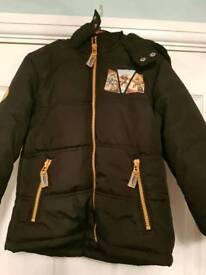Skylanders boys black coat