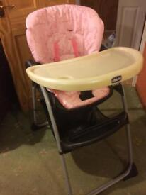 Chicco 'happy snack' high chair