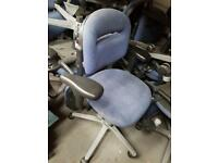 Blue heavy duty office chairs