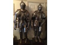 Two Full Suits of Armour 7ft tall