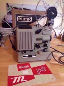 Mint condition NOS Super 8 film projector working Eumig P8 Automatic boxed + accessories cine movie
